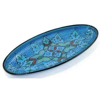Extra Large 21-inch Sabrine Design Oval Platter (Tunisia)