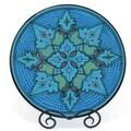 Hand-painted Sabrine Design 15-inch Round Platter (Tunisia)