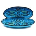 Set of 2 Sabrine Design 16-inch Large Oval Platters (Tunisia)