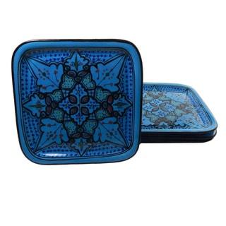 Set of 4 Sabrine Design 9-inch Square Plates (Tunisia)