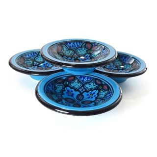 Set of 4 Sabrine Design 4-inch Round Sauce Dishes (Tunisia)
