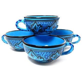 Set of 4 Sabrine Design 5-inch Latte/ Soup Mugs (Tunisia)