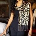 Silk 'Nocturnal Royale' Batik Scarf (Indonesia)