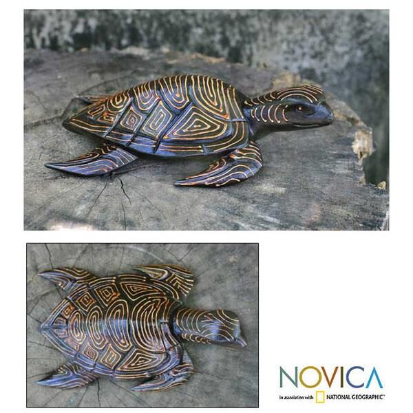 Wood 'Sea Turtle' Statuette (Indonesia)
