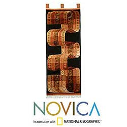 Wool 'Inca Belt' Tapestry (Peru)
