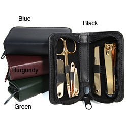 Royce Leather Gold Mini Travel Manicure Set
