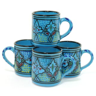 Set of 4 Sabrine Design Coffee Mugs (Tunisia)