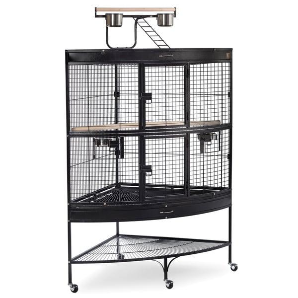 Prevue Pet Products Large Corner Bird Cage 3158BLK Black