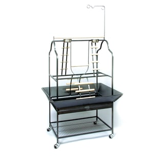 Prevue Pet Products Parrot Playstand 3180 Black Hammertone