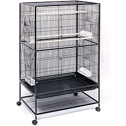 Prevue Pet Products Wrought Iron Flight Cage with Stand F040 Black