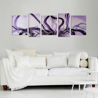 'Hand-painted Abstract Oil Painting' gallery wrapped Original Art