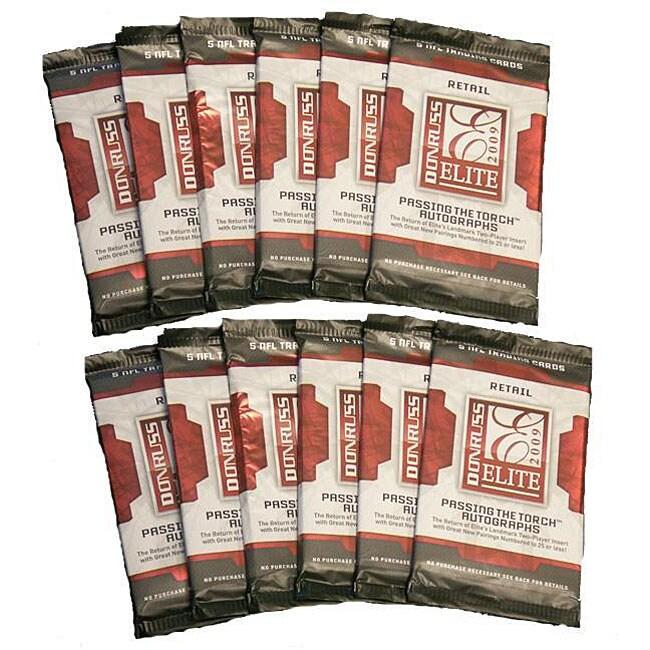 NFL Donruss Elite 2009 12-pack Trading Cards