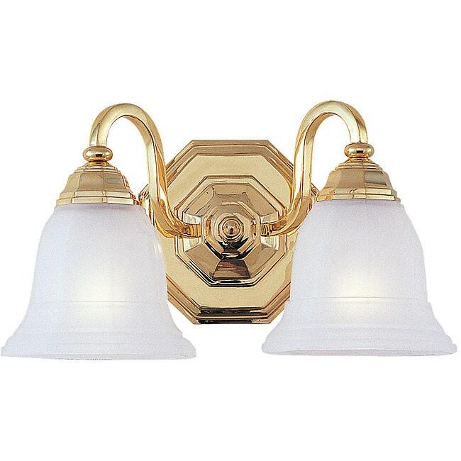 Blakely Bath Bracket 2-light Polished Brass Fixture