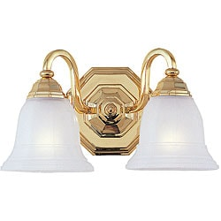 Blakely Bath Bracket 2-light Polished Brass Fixture