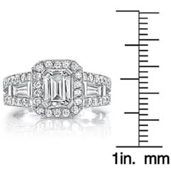 18k Gold 2 1/8ct TDW EGL Diamond Engagement Ring (I, SI1)