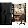 Craftbox Antique Black Raised Panel Cabinet