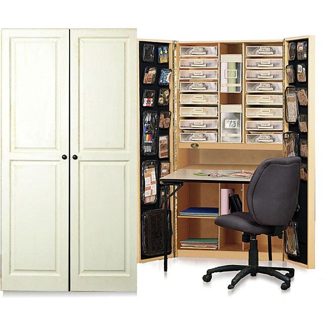 Craftbox Antique Vanilla Raised Panel Cabinet