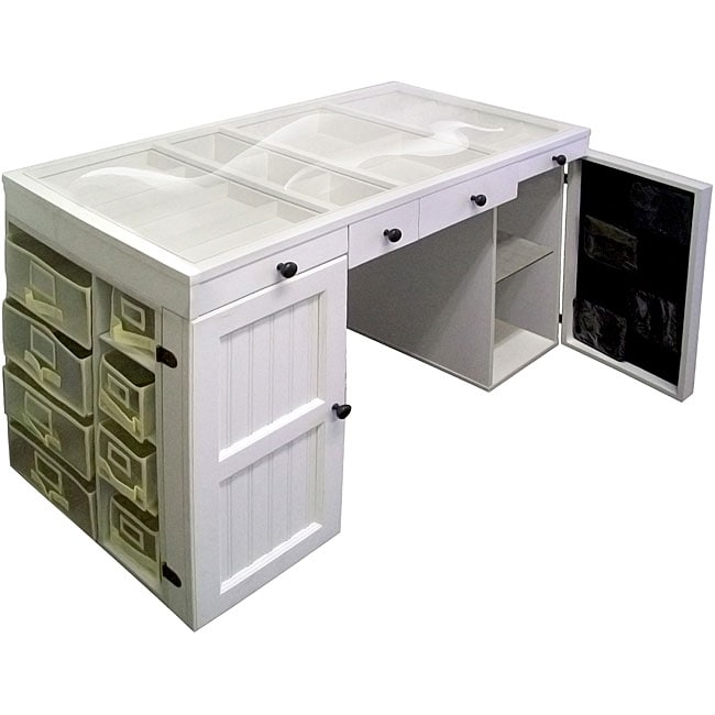 EZ View White Craft Desk