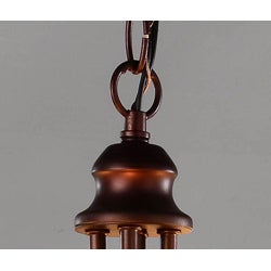 Indoor 4-light Antique Copper Chandelier