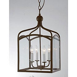 Antique Copper 4-light Chandelier