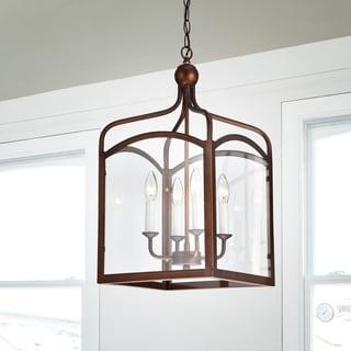Bronze 4-light Chandelier
