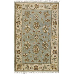 Hand-knotted Southwestern Park Ave Wool Rug (2'6 x 8') with Free Rug Pad