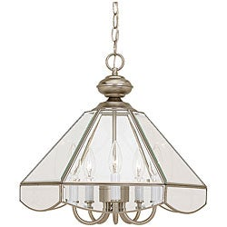Traditional 5-light Brushed Nickel Pendant