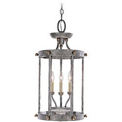 Athenia 3-light Silver-patina Hall/ Foyer Fixture