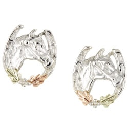 Black Hills Gold and Silver Horseshoe Earrings