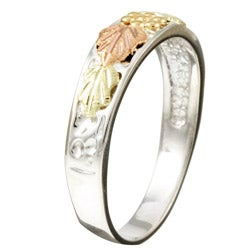 Black HIlls Pink-and-green Gold and Sterling Silver Band
