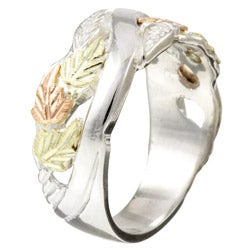 Black HIlls Gold and Fine Sterling Silver Band