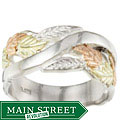 Black HIlls Gold and Sterling Silver Band