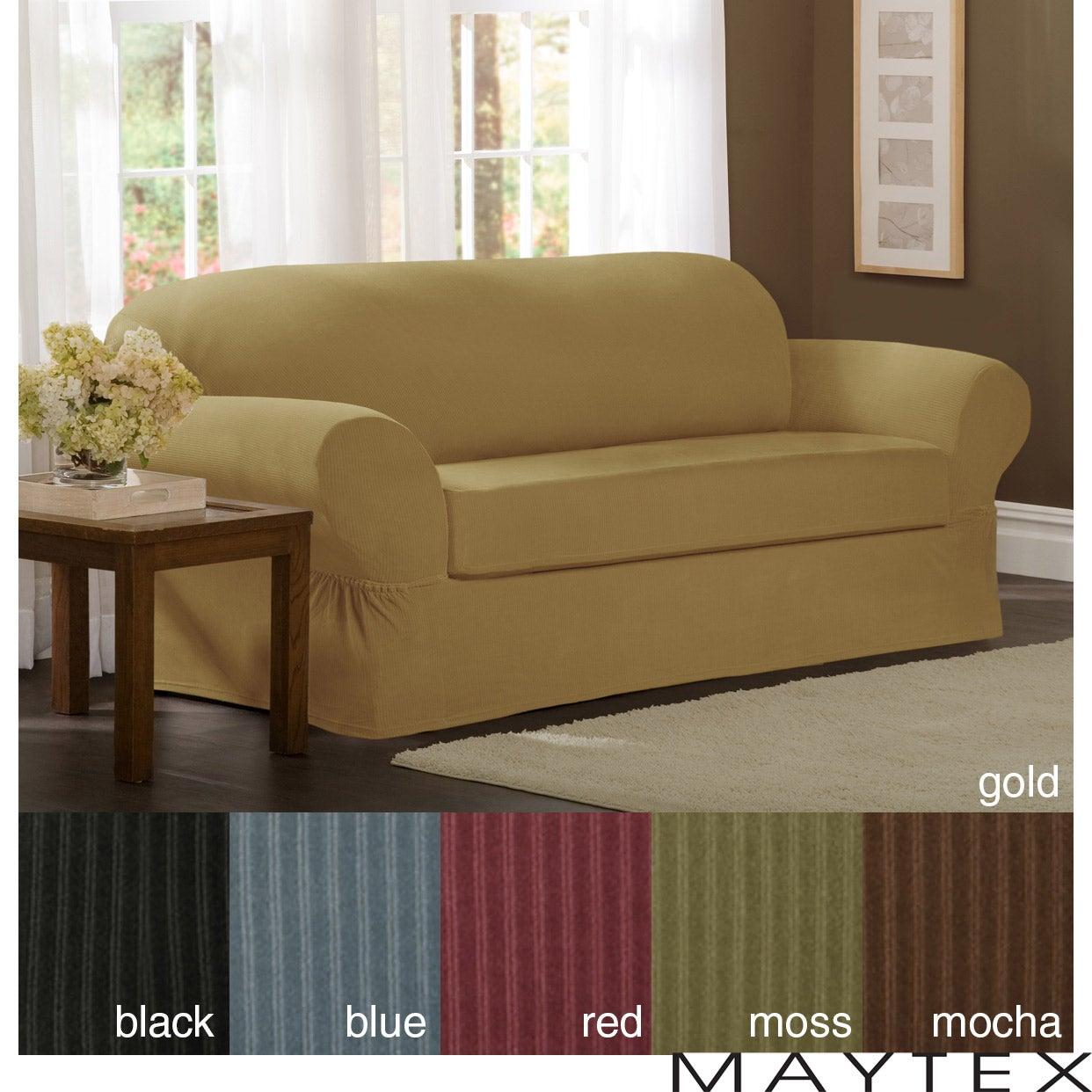 Maytex Collin 2 Piece Sofa Slipcover Overstock Shopping