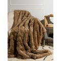 Oversize Faux Fur Coyote Throw Blanket