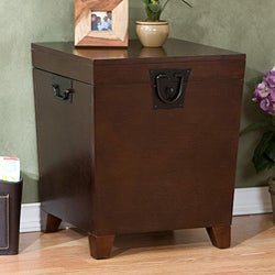 Upton Home Pyramid Espresso Trunk End Table