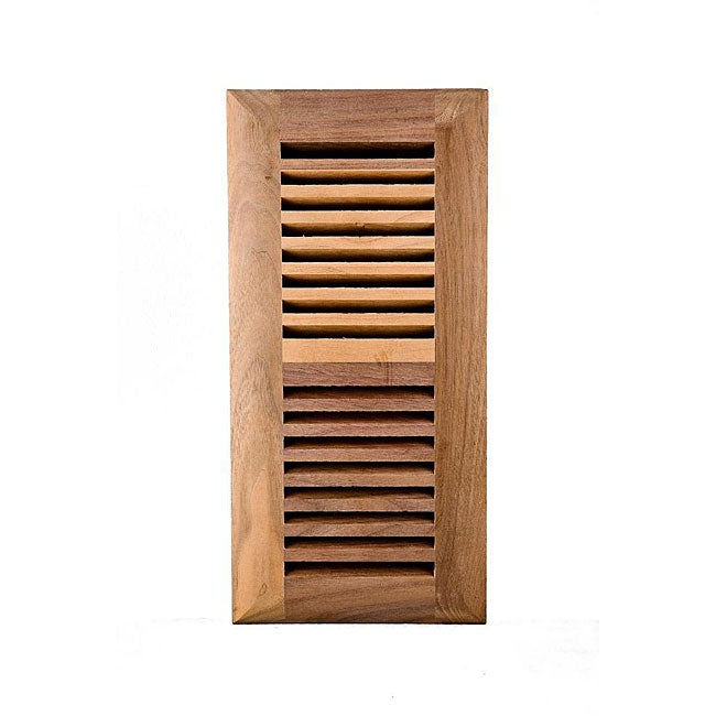 Image Flooring 4 x 12-Inch Unfinished Walnut Wood Vent with Smooth Opening and Closing