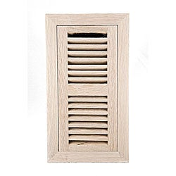 Image Flooring 4x12-inch Unfinished White Oak Wood Vent