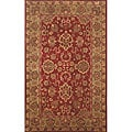 Petra Agra Red Wool Rug (5' x 8')