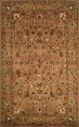 Petra Oushak Brown Wool Rug (8' x 10')