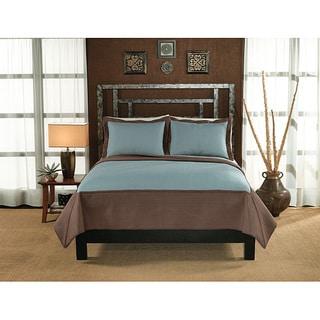 Barclay Hotel Aqua/ Taupe 3-piece Quilt Set