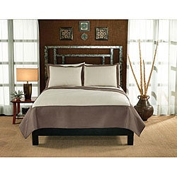 Barclay Tan and Cream Hotel 3-piece Quilt Set