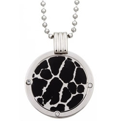 Men's Titanium Two-tone Diamond Necklace