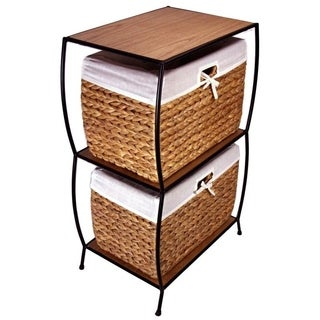 Rattan 2-drawer File Cabinet