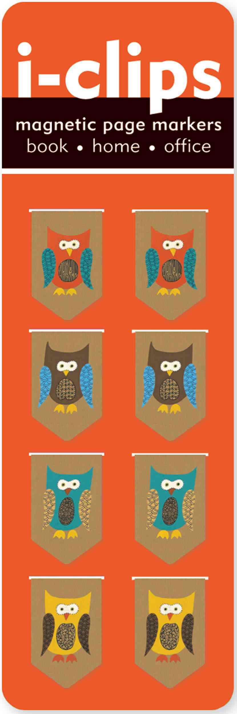 Owls I-clips Magnetic Page Markers (Bookmark)
