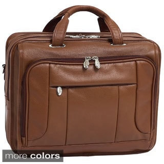 McKlein River West 17-inch Leather Laptop Case