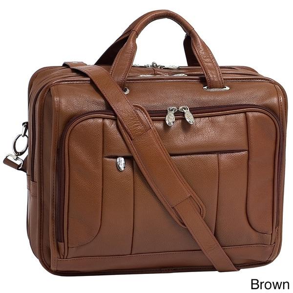 McKlein River West 17-inch Leather Laptop Case