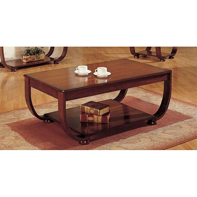 Heirloom Cherry Finish Coffee Table 12141535 Shopping Great Deals On Coffee