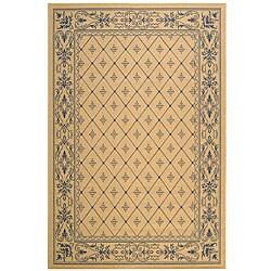 Safavieh Indoor/ Outdoor Summer Natural/ Blue Rug (5'3 x 7'7)