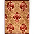 Safavieh Indoor/ Outdoor St. Barts Natural/ Red Rug (7'10 x 11')