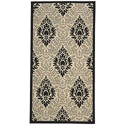 Safavieh Indoor/ Outdoor St. Barts Sand/ Black Rug (2'7 x 5')